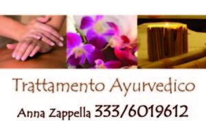 Biglietto da visita massaggio Ayurvedico
