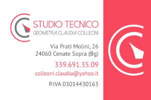 Biglietto da visita per Studio Tecnico Geometra Claudia Colleoni