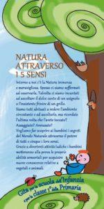 Volantino Formato 10x21 Fronte, Gita Natura Attraverso i 5 Sensi, Artemisia