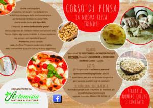 Volantino corso Pinsa per Artemisia