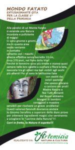 Volantino Formato 10x21 Fronte, Gita Mondo Fatato, Artemisia